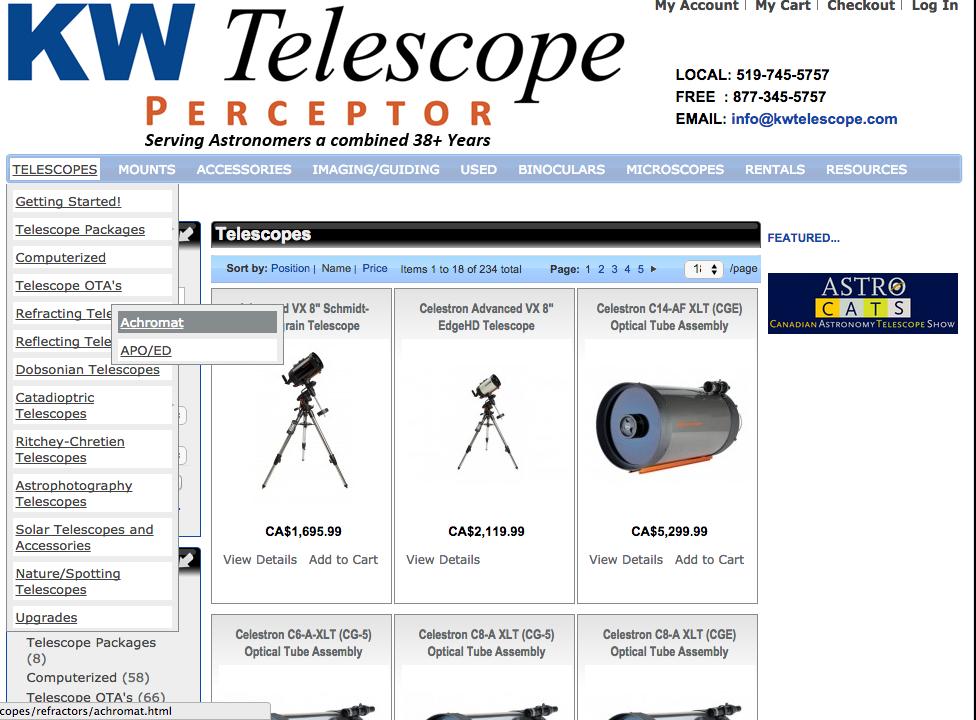 KW Telescope